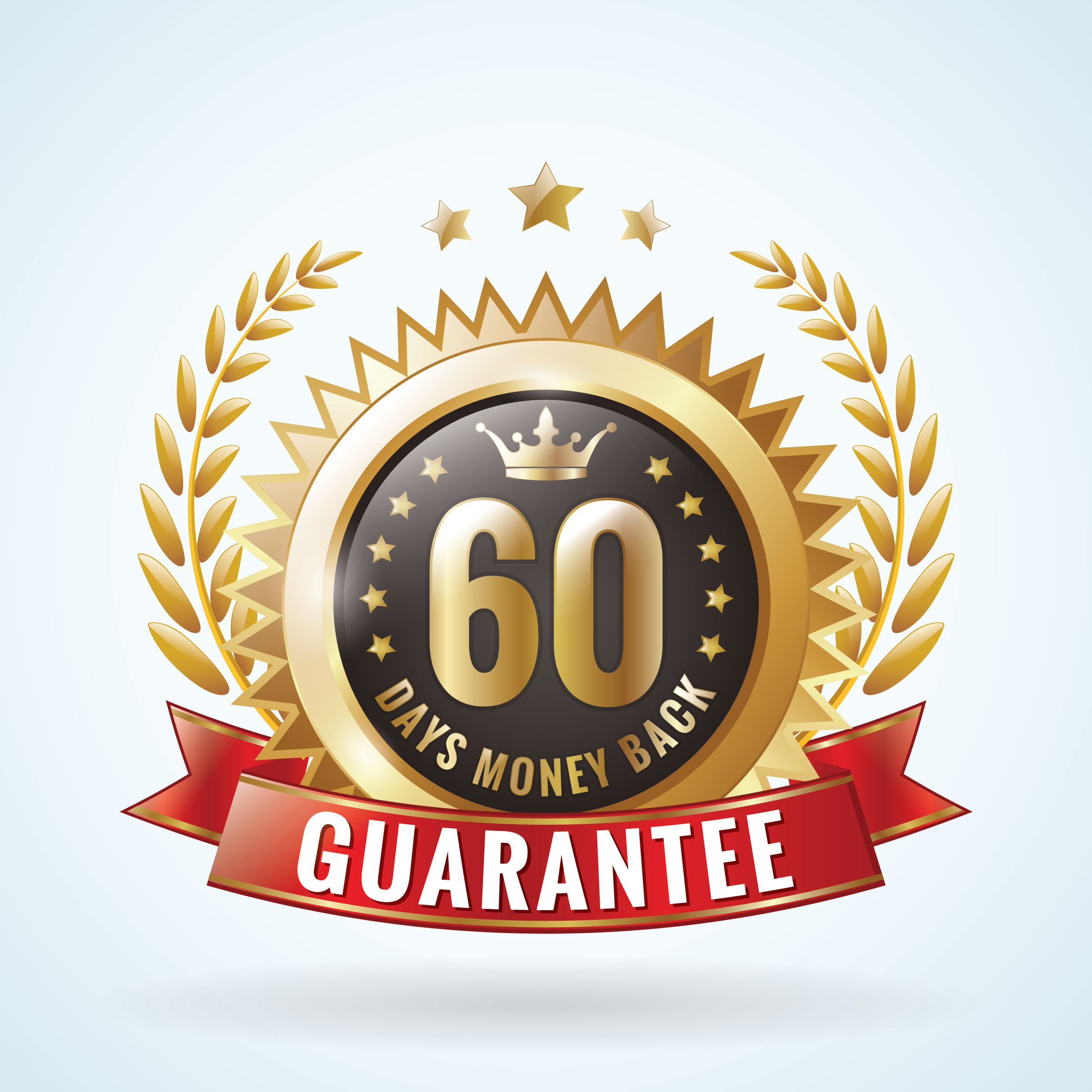 We stand behind our service with a 60-day guarantee.