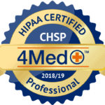 Compliance certification for HIPAA 4med+ CHSP
