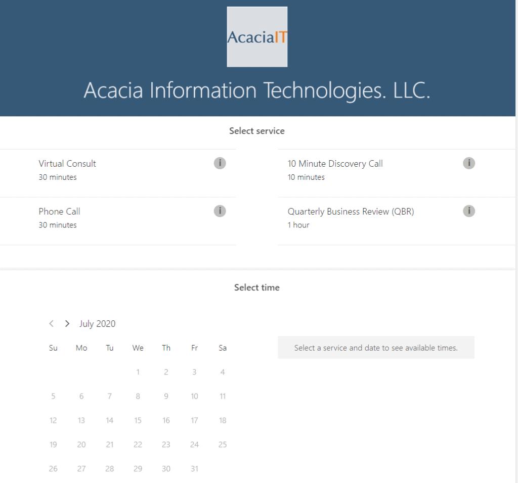 Bookings - New Microsoft 365 app - Computer Support Tucson, Arizona